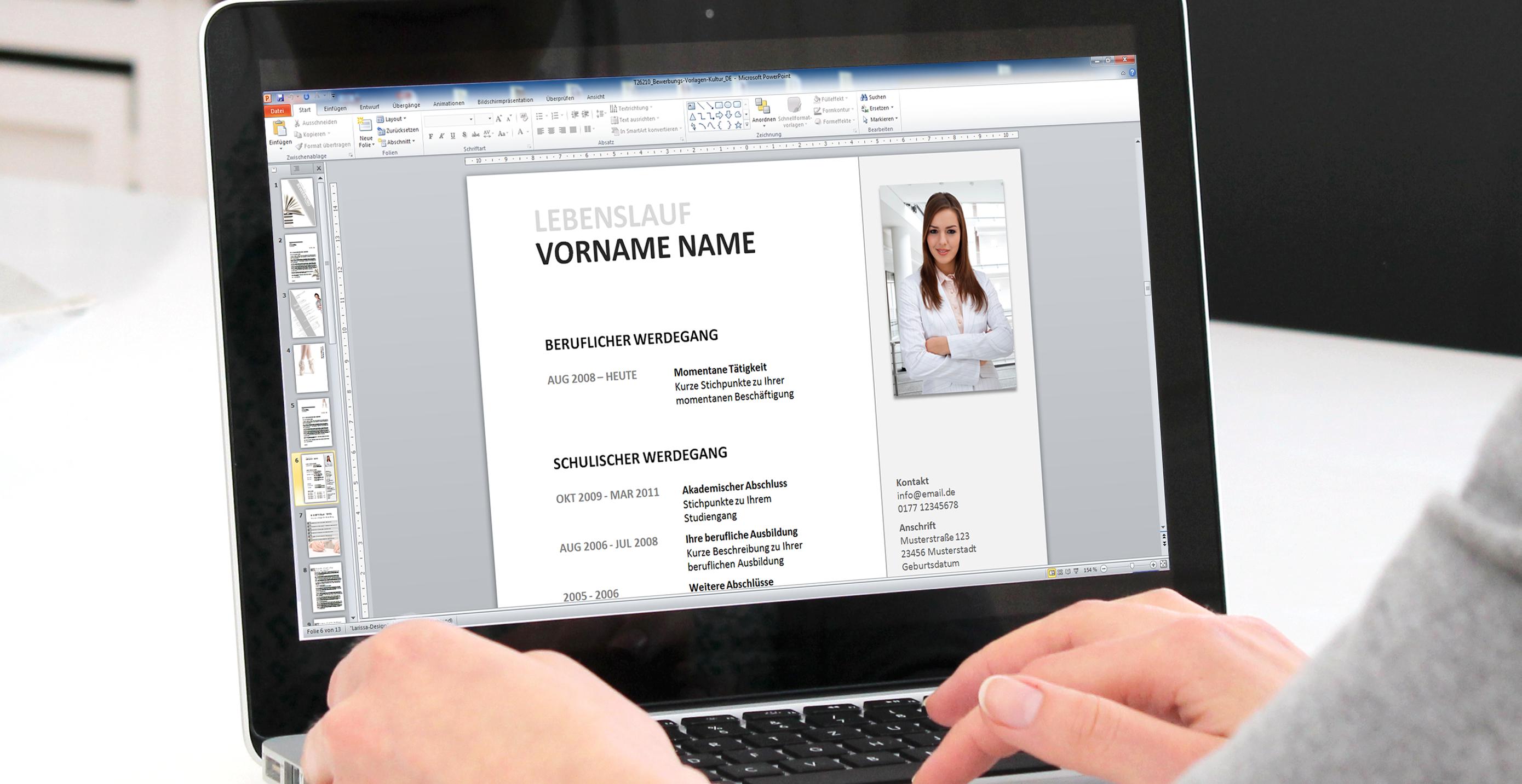 mit powerpoint bewerbungsvorlagen erfolgreich zum job - Selbstprasentation Powerpoint Muster