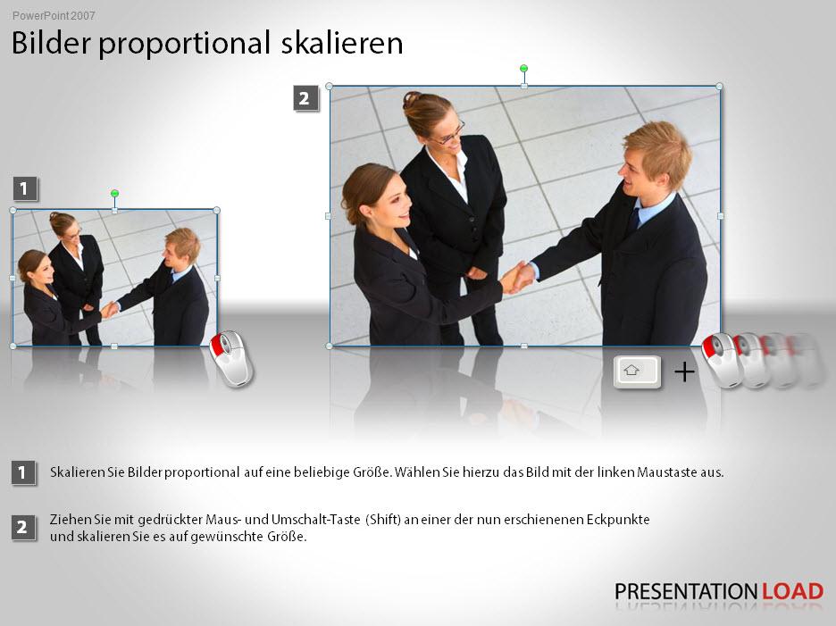 Bilder in PowerPoint skalieren