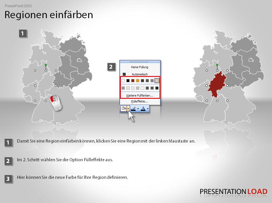 PowerPoint Landkarten von PresentationLoad Tutorial