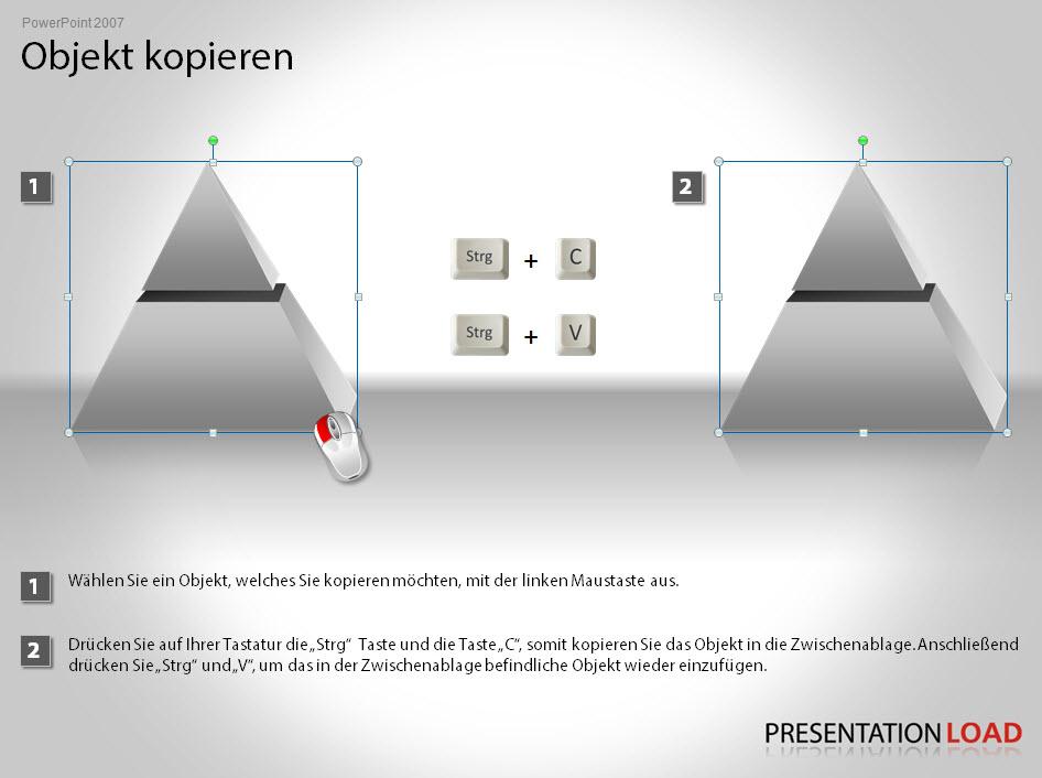 PowerPoint Objekt kopieren Tutorial PresentationLoad
