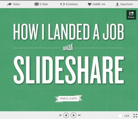 Online Bewerbung Mit Powerpoint Und Slideshare