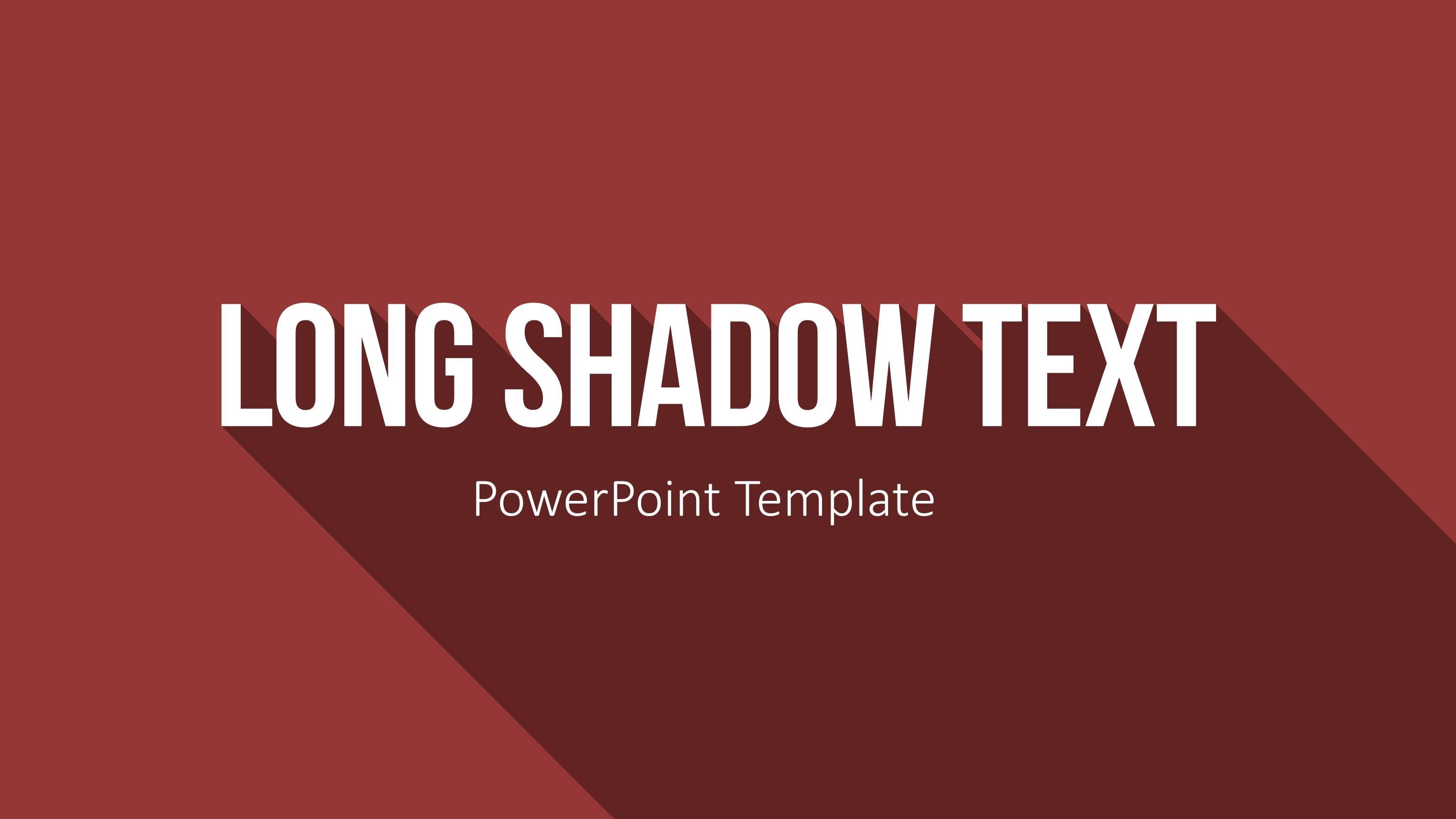 Long Shadow Text In Powerpoint Prasentieren Auf Top Niveau