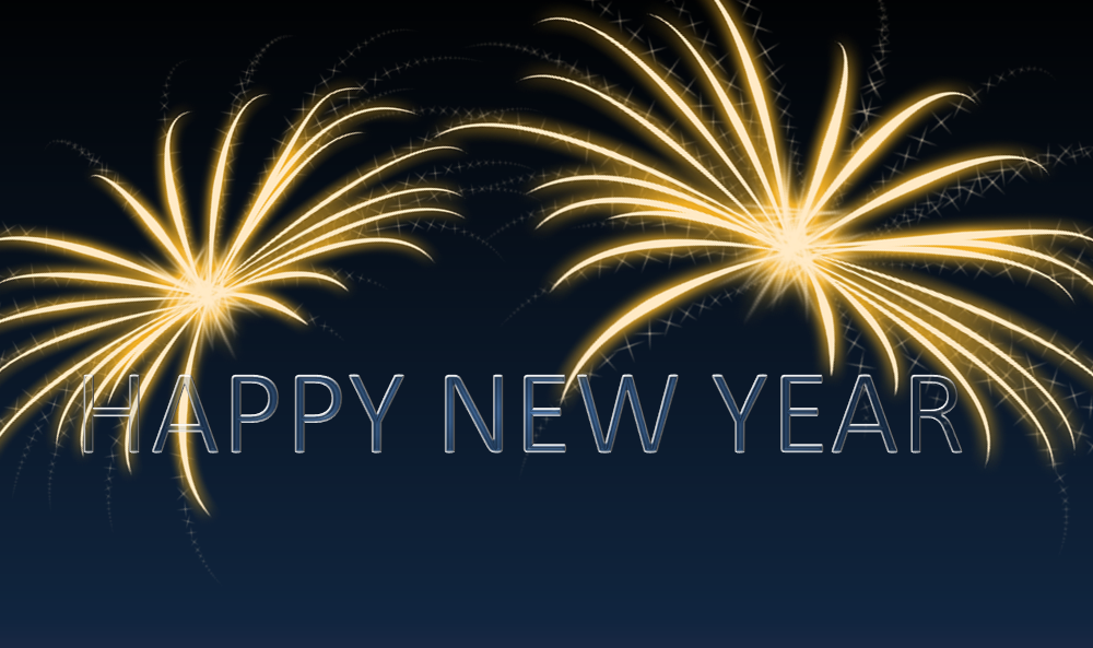 Happy New Year Gratis Silvester Powerpoint Vorlagen