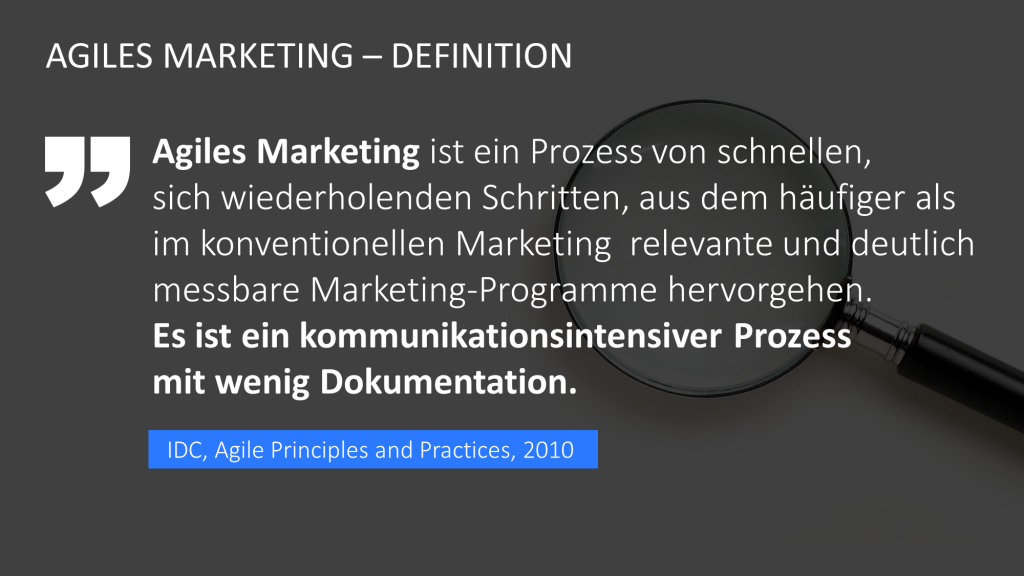 Definition Agiles Marketing