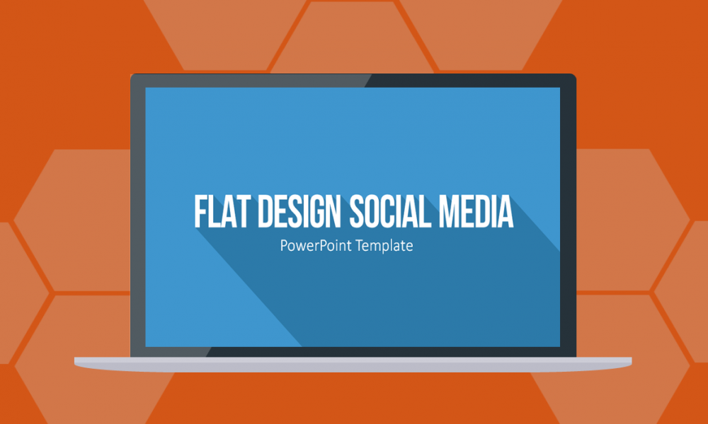 Flat Design Social Media Icons für PowerPoint