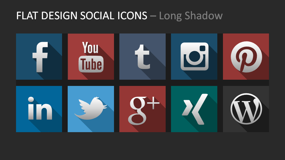 Flat Design Social Icons