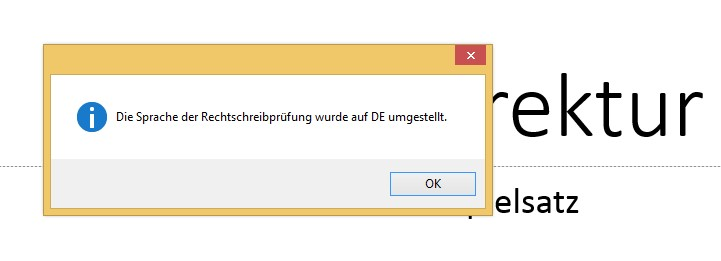 Sprachumstellung in PowerPoint