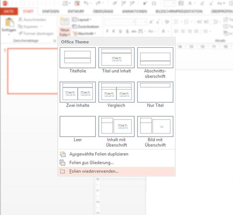 PowerPoint Folienbibliothek mit SharePoint