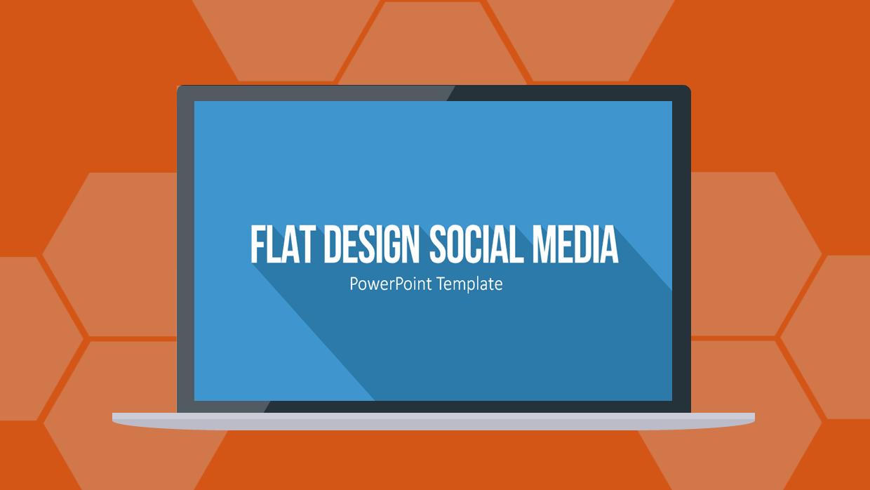 Flat Design Social Media Icons für PowerPoint