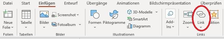 PDF in PowerPoint einfügenLink