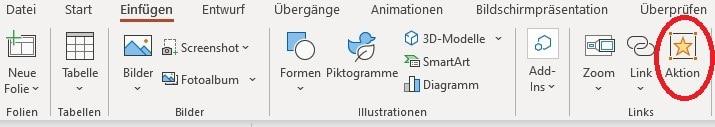 PDF in PowerPoint einfügen Mausklick