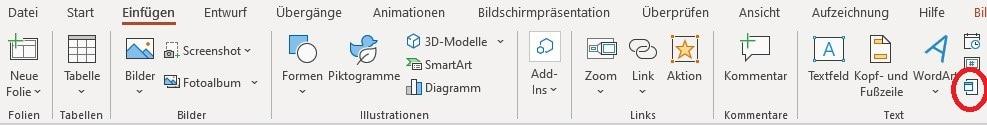 PDF in PowerPoint einfügenObjekt