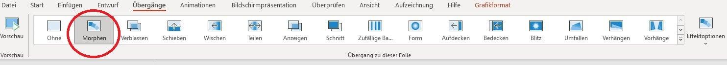 GIF in PowerPoint einfügen Morphen