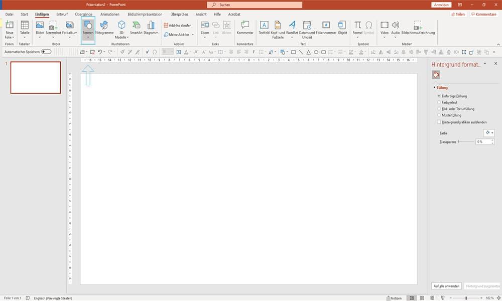 Schritt1_Bilder Transparent machen in PowerPoint