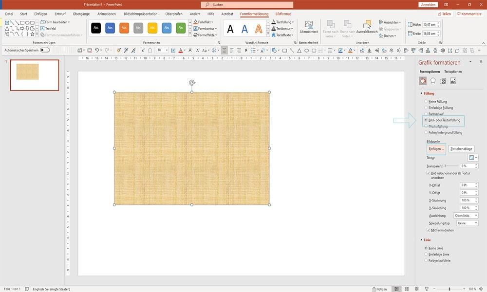 Schritt3 Bilder transparent machen in PowerPoint