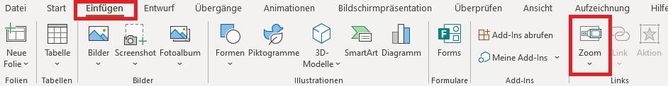 PowerPoint-Zoom Option