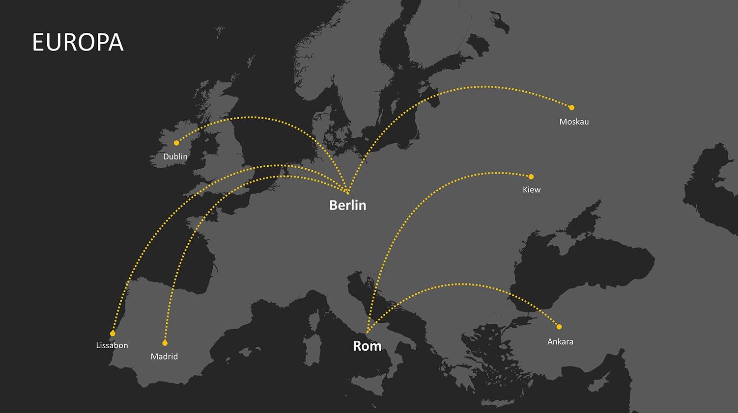 PowerPoint Landkarte Europa