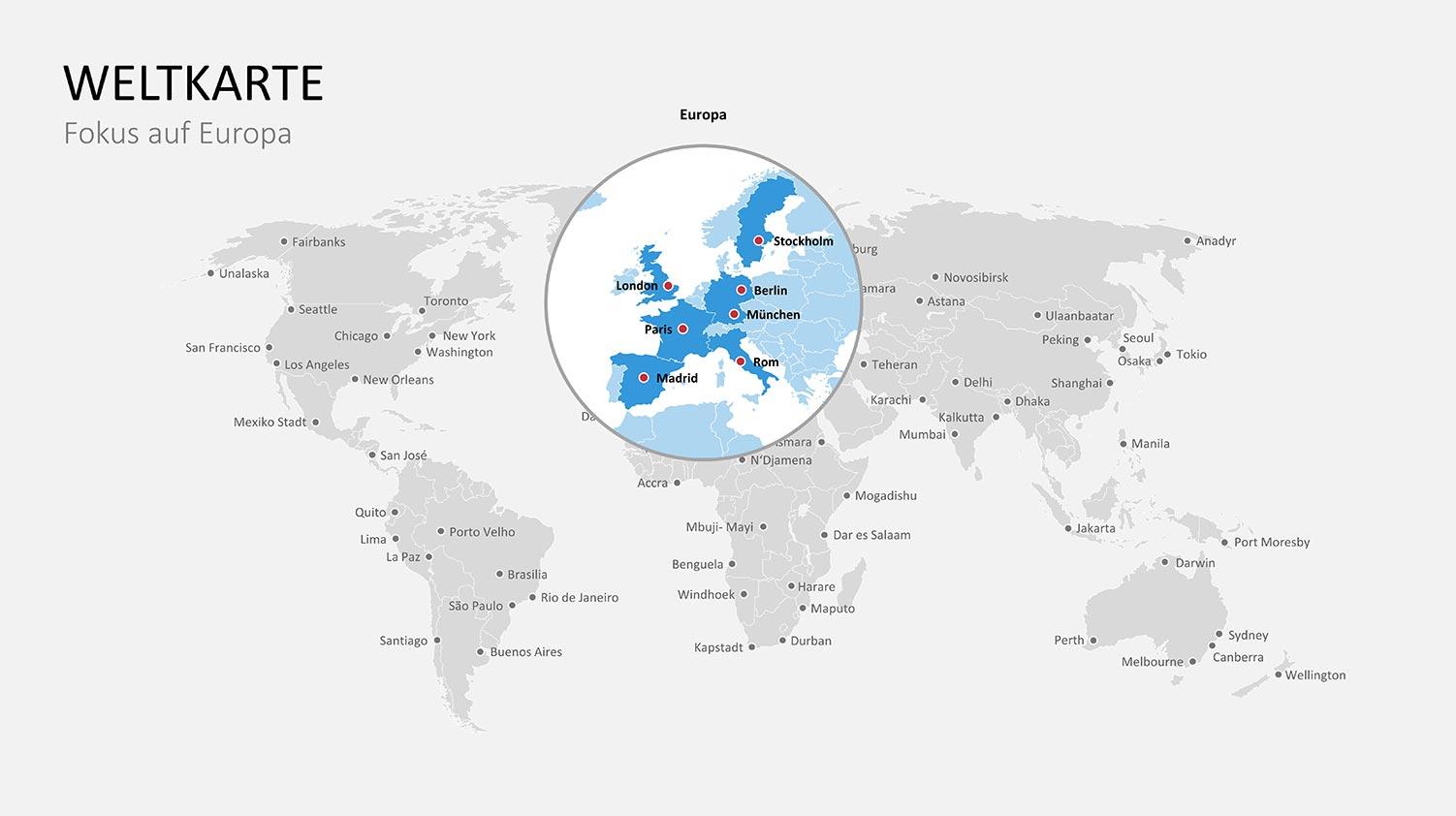 bearbeitbare PPT Landkarten