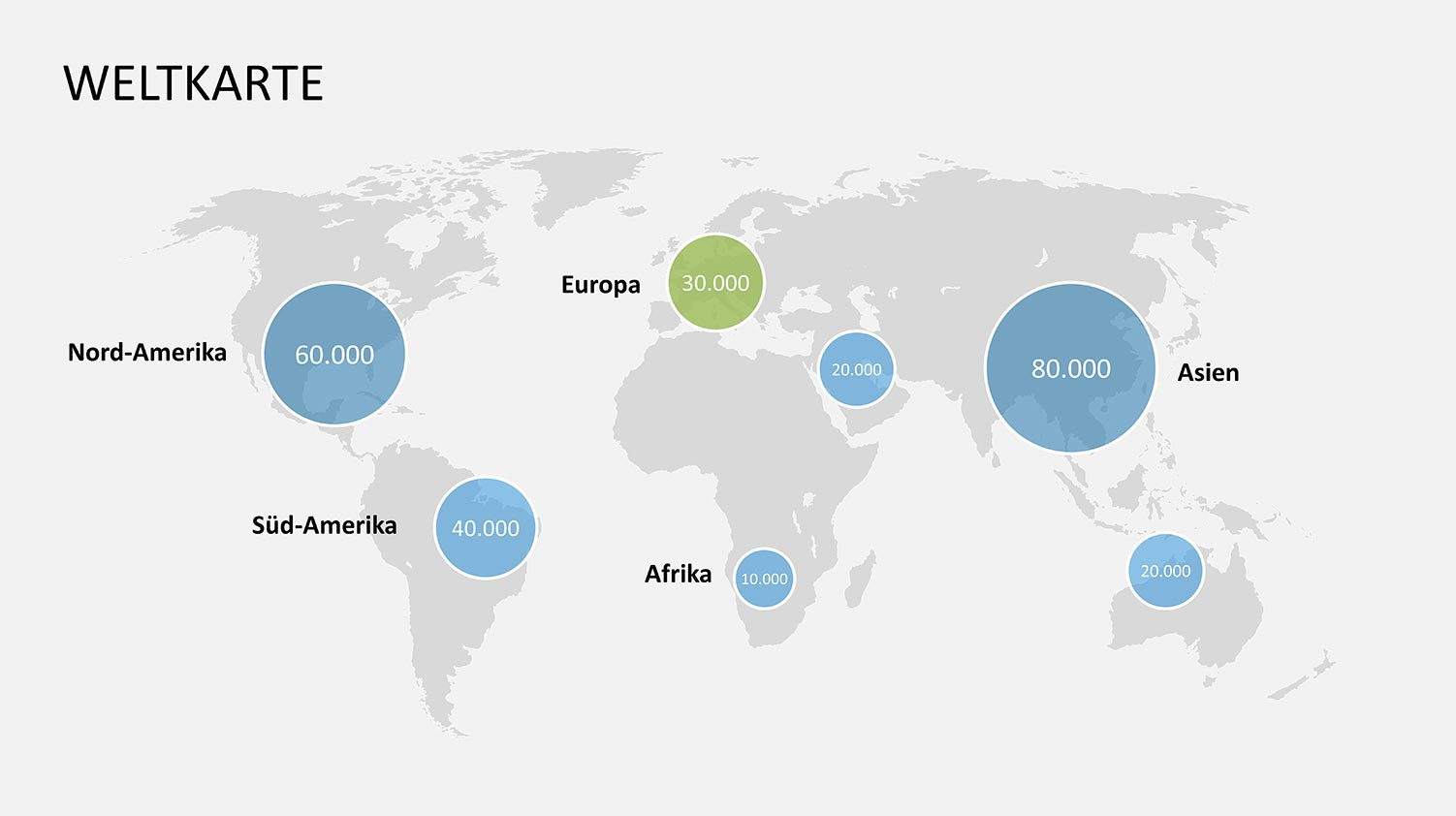 Weltkarte PowerPoint für Vertrieb und Vertriebspräsentationen