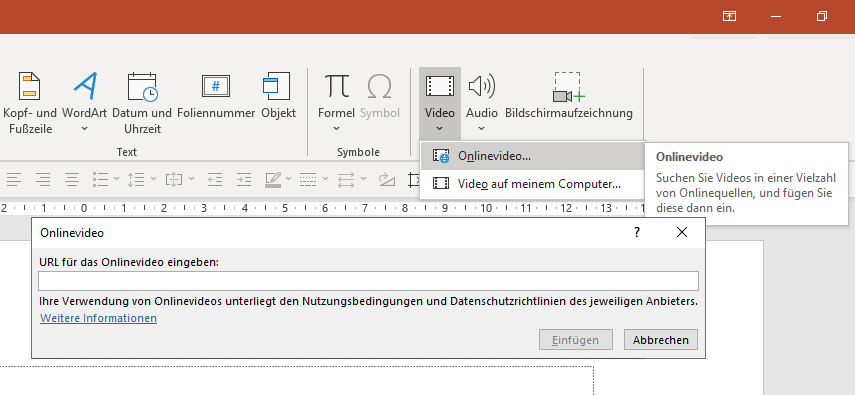 youtube video in powerpoint einfügen
